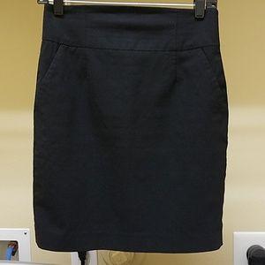 Banana black pencil skirt